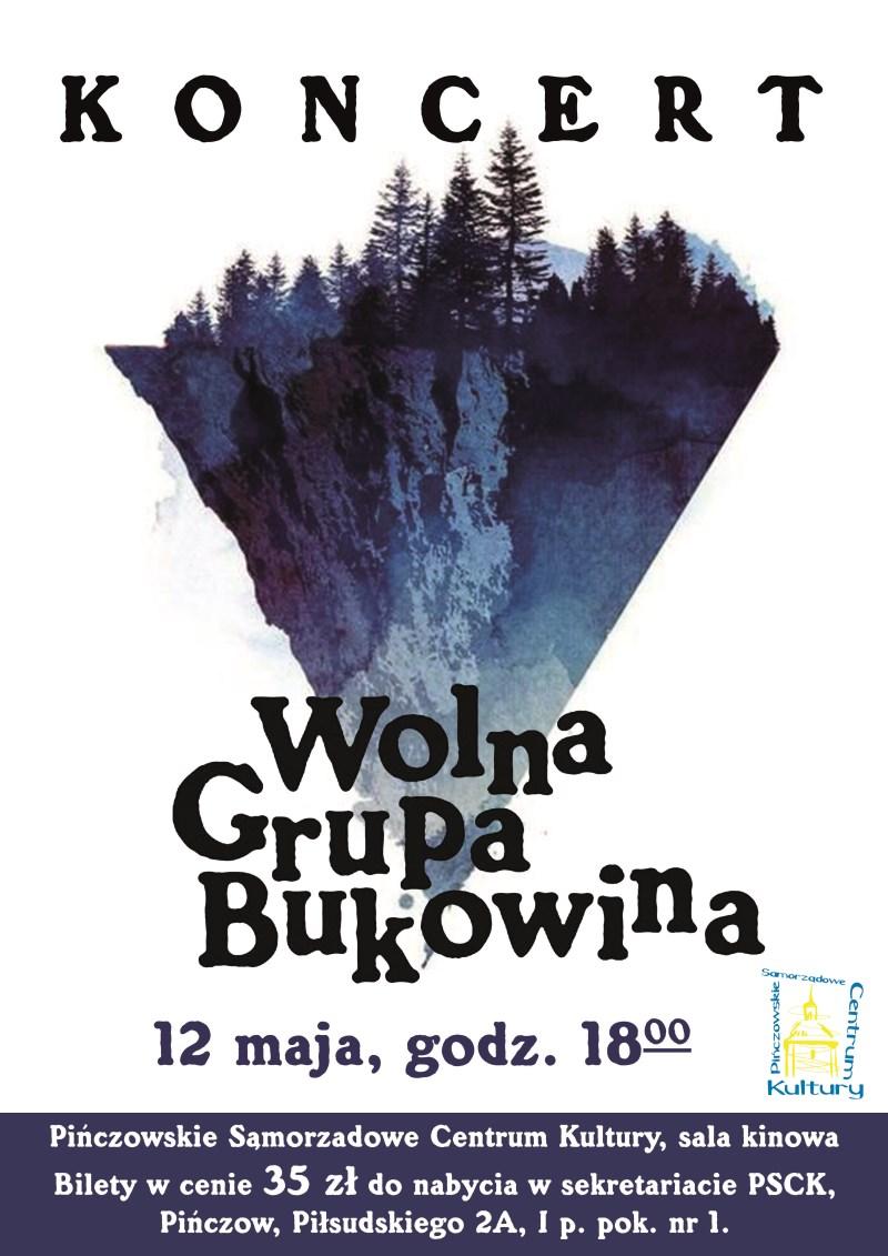 Wolna Grupa Bukowina Plakat Koncert Maj 2018 800 X 1131
