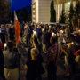 Protest pod sądem w Pińczowie