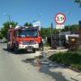 Uszkodzony gazociąg przy ul. Batalionów Chłopskich w Pińczowi