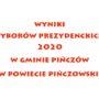 Wyniki wyborów prezydenckich 2020 w gminie Pińczów